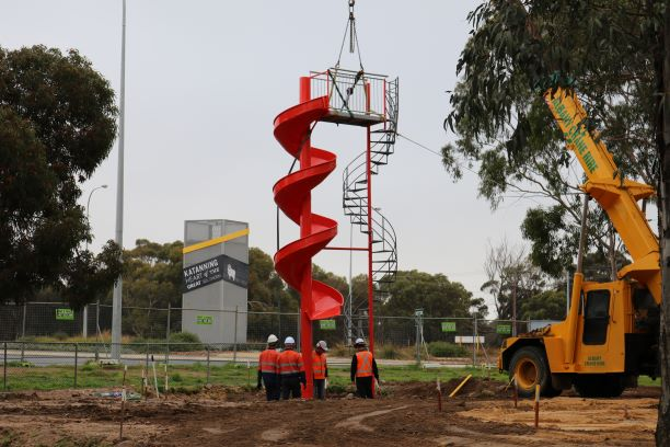 Katanning Welcomes Home Iconic Giant Play Equipment