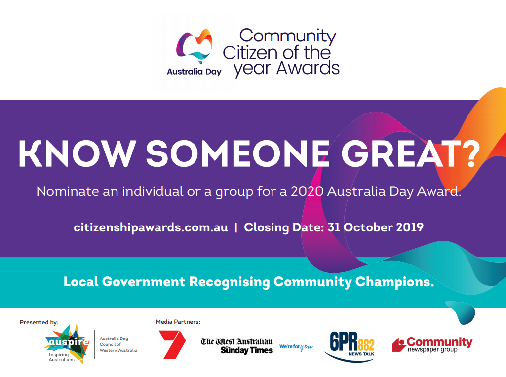 CALL FOR NOMINATIONS CITIZEN OF THE YEAR & COMMUNITY LONG SERVICE AWARD 2020